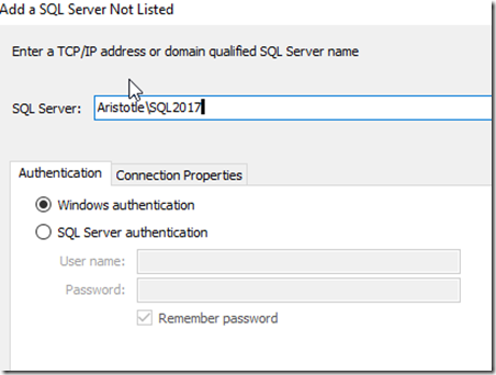 2021-07-12 08_37_29-Add a SQL Server Not Listed