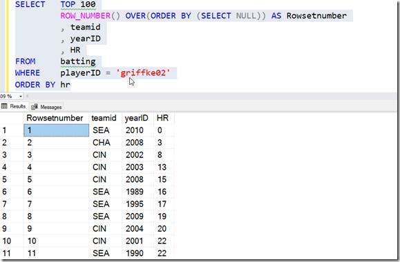 2021-07-13 11_45_14-SQLQuery1.sql - ARISTOTLE.BaseballData (ARISTOTLE_Steve (75))_ - Microsoft SQL S