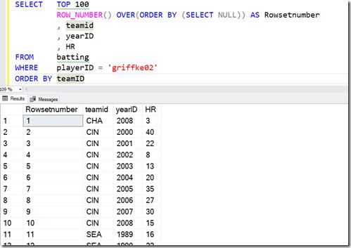 2021-07-13 11_46_48-SQLQuery1.sql - ARISTOTLE.BaseballData (ARISTOTLE_Steve (75))_ - Microsoft SQL S