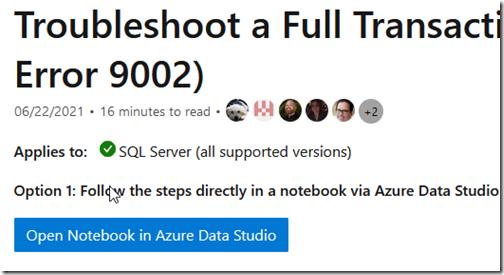 2021-08-10 17_50_23-Troubleshoot full transaction log error 9002 - SQL Server _ Microsoft Docs — Moz